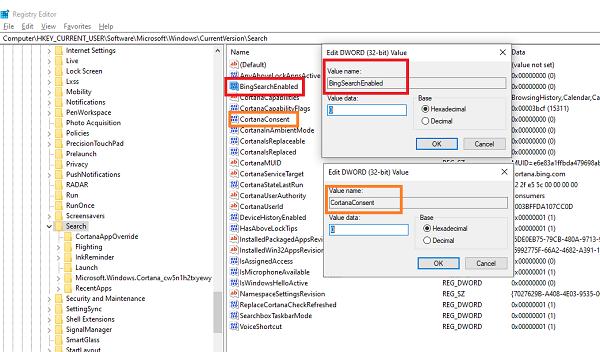 Как отключить поиск bing в windows 10. Как отключить поисковик Bing для Windows 10 в меню Пуск